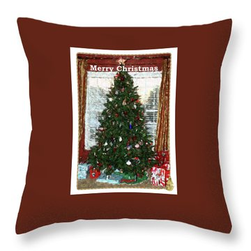 Throw Pillow featuring the photograph Mosaic Tree by Ellen O'Reilly