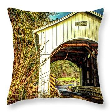 Mosby Creek Bridge Throw Pillow