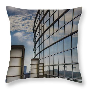 Throw Pillow featuring the photograph Moscone West Balcony by Darcy Michaelchuk