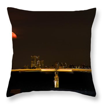 Moscow By Night Throw Pillow by Stelios Kleanthous