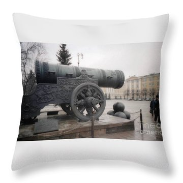 Moscow Cannon Relic Throw Pillow by Ted Pollard