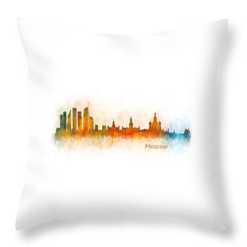 Moscow City Skyline Hq V3 Throw Pillow