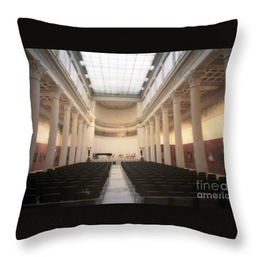 Moscow Consert Hall Throw Pillow by Ted Pollard