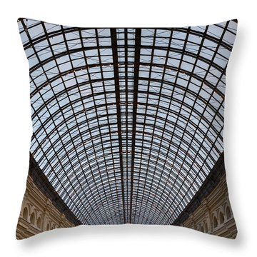 Moscow Gum  Throw Pillow by Stelios Kleanthous