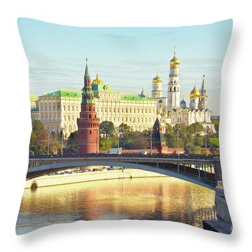 Moscow, Kremlin Throw Pillow