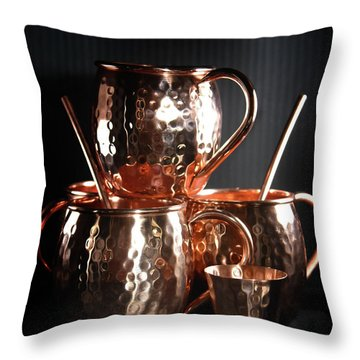 Moscow Mule Set Throw Pillow