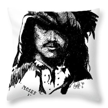 Moses Black Harris Throw Pillow