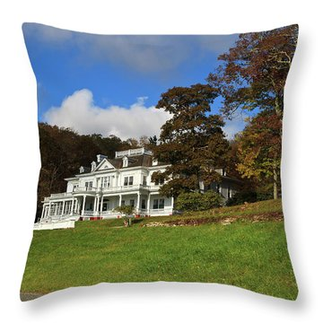 Moses Cone Flat Top Manor Throw Pillow