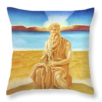 Moshe Rabbenu  Throw Pillow