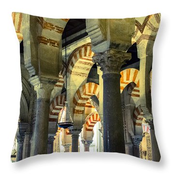 Mosque Cathedral Of Cordoba 2 Throw Pillow