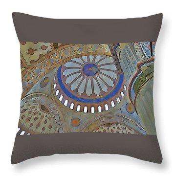 Mosque Dome Throw Pillow