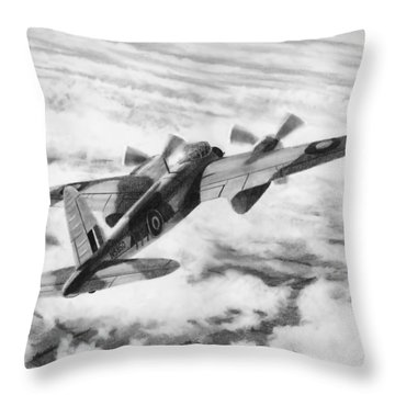 Mosquito Fighter Bomber Throw Pillow