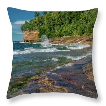 Mosquito Harbor Waves  Throw Pillow