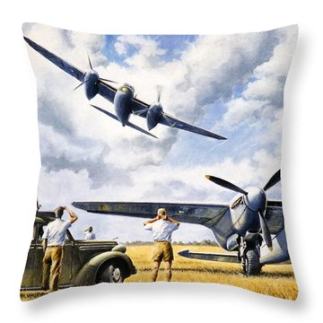 'mosquito Movietone News'  Throw Pillow by Colin Parker