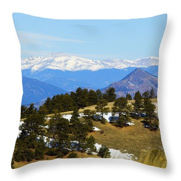 Mosquito Range Mountains Throw Pillow
