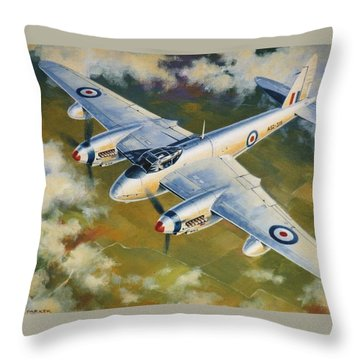 'mosquito Survey Flight' Throw Pillow by Colin Parker
