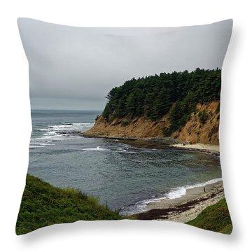 Moss Beach Throw Pillow