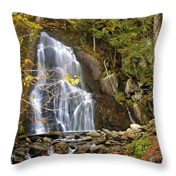 Moss Glen Falls Throw Pillow
