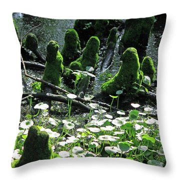 Mossy Congregation II Throw Pillow