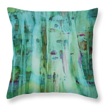 Mossy Falls Throw Pillow by Elizabeth Carr