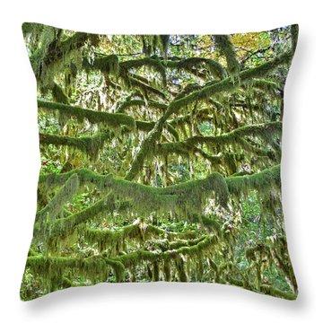 Mossy Maze Throw Pillow