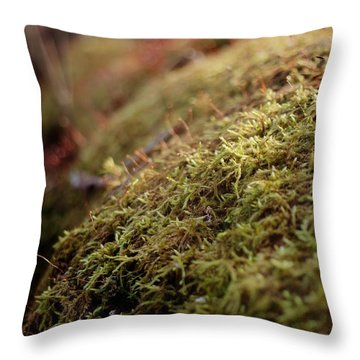 Throw Pillow featuring the photograph Mossy by Michael Colgate