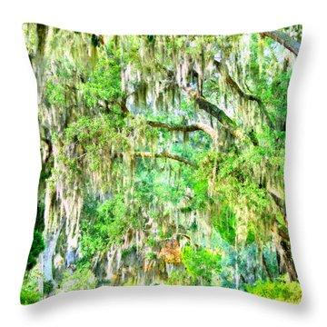 Mossy Oak Pathway H D R Throw Pillow
