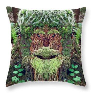 Mossman Tree Stump Throw Pillow