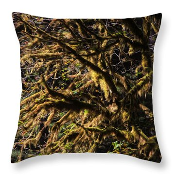 Mossy Trees Throw Pillow