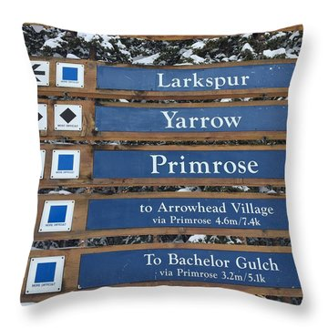 Most Go Right Throw Pillow