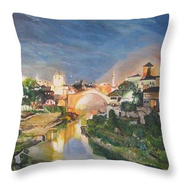 Mostar Throw Pillow