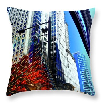 Mostly Reflections In Sydney Throw Pillow by Kirsten Giving