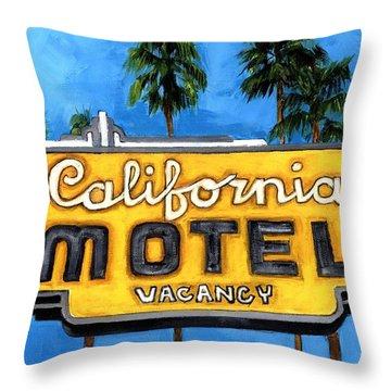 Motel California Throw Pillow