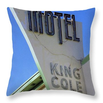 Motel King Cole Throw Pillow