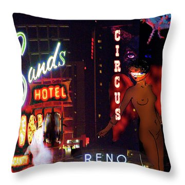 Motel Variations Angels Throw Pillow by Ann Tracy
