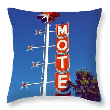 Motel With Stars Throw Pillow