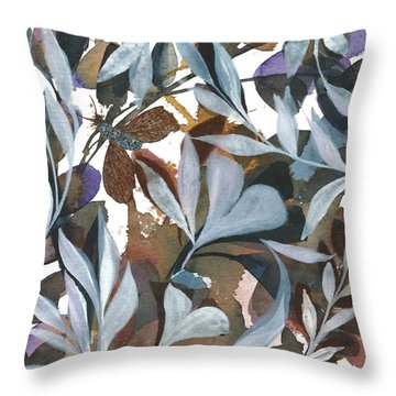 Moth Got Caught Throw Pillow by Garima Srivastava