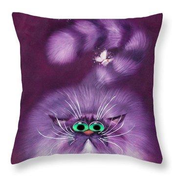 Moth Hunter Throw Pillow by Baron Dixon