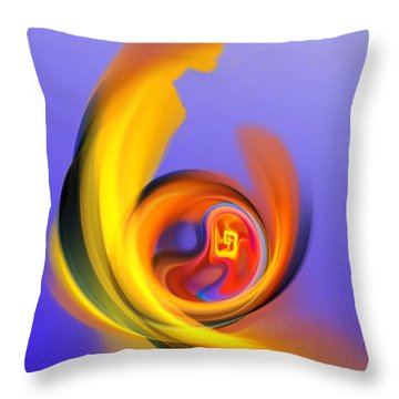 Mother And Child Throw Pillow by David Lane