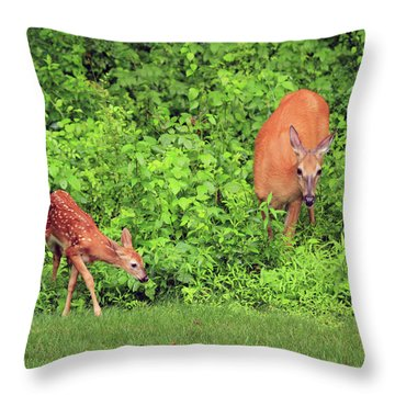 Mother And Child Throw Pillow by Karol Livote