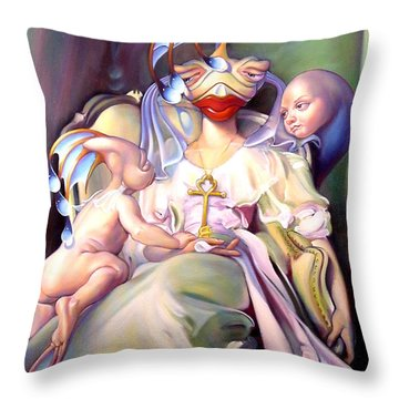 Mother And Child Reunion Throw Pillow by Patrick Anthony Pierson