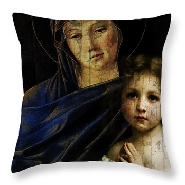 Throw Pillow featuring the mixed media Mother And Child Reunion  by Paul Lovering