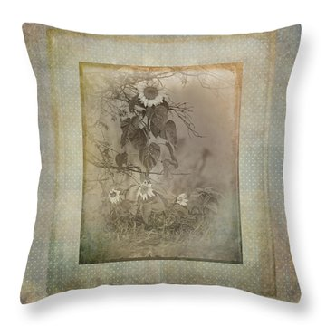 Mother And Child Reunion Vintage Frame Throw Pillow by Susan Capuano