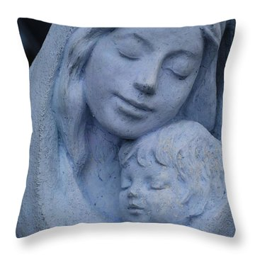 Mother And Child Throw Pillow by Susanne Van Hulst