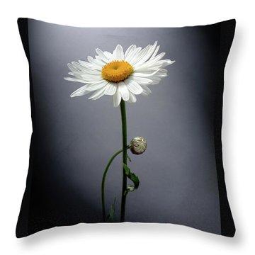 Mother Daisy Throw Pillow