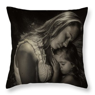 Mother Daughter Throw Pillow