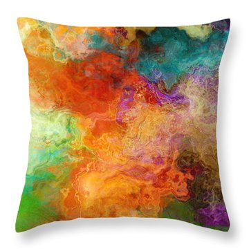 Mother Earth - Abstract Art Throw Pillow