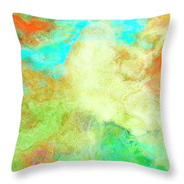 Mother Earth - Abstract Art - Triptych 1 Of 3 Throw Pillow