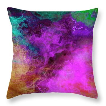 Mother Earth - Abstract Art - Triptych 3 Of 3 Throw Pillow
