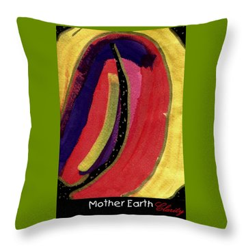 Throw Pillow featuring the painting Mother Earth by Clarity Artists